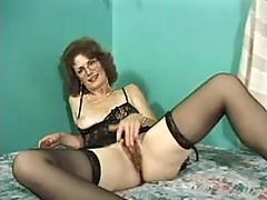 Mature wify in stockings