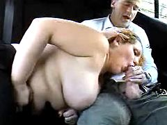 Very sweet titty milf sexing in car