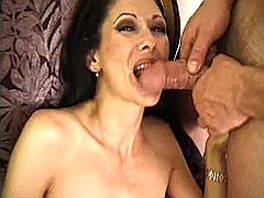 Mom got dick juice after tight anal