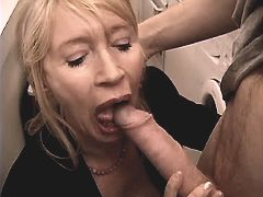 Aged mature sucks dick n licks ass