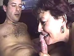 Old slut gets cum blasted