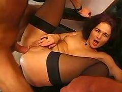 Mom in stockings analized