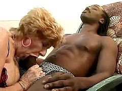 Milf sucks and fucks with two guys