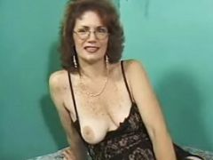 Horny mature in stockings hammered