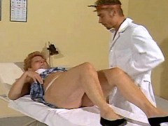 Horny old lady seduces young doctor