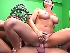 Crummy milf fucks on table n floor
