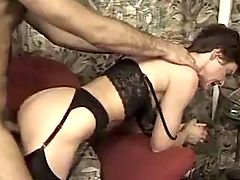 Busty mature gets facial after fuck