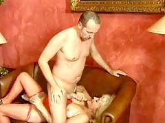 Milf gets cum on ass after gangbang