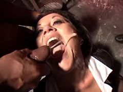 Granny gets hot cumload in gangbang