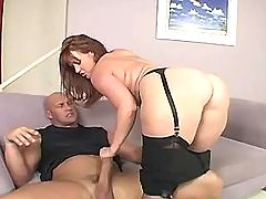 Mature fucks n gets cumshot on ass